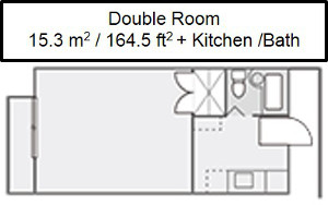 University Village room layout