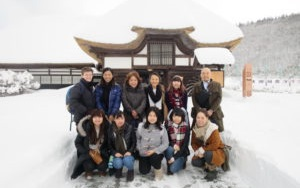 Picture of Australian National University students visit Akita Sato no ie