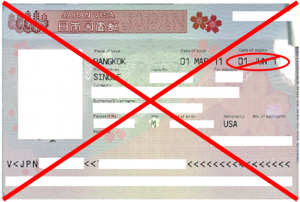 Image of a visa