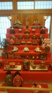 Hina matsuri dolls on stand