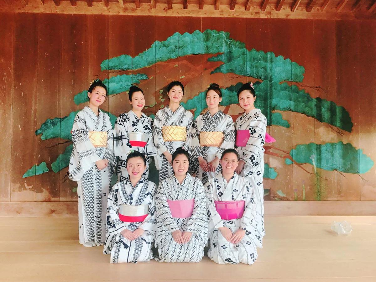 Traditional Japanese Dance Club Akita International University kimono