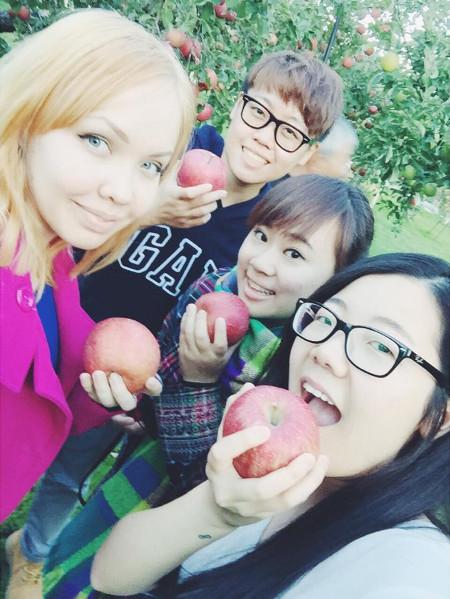 Akita International University community outreach services RCOS apple farm trip