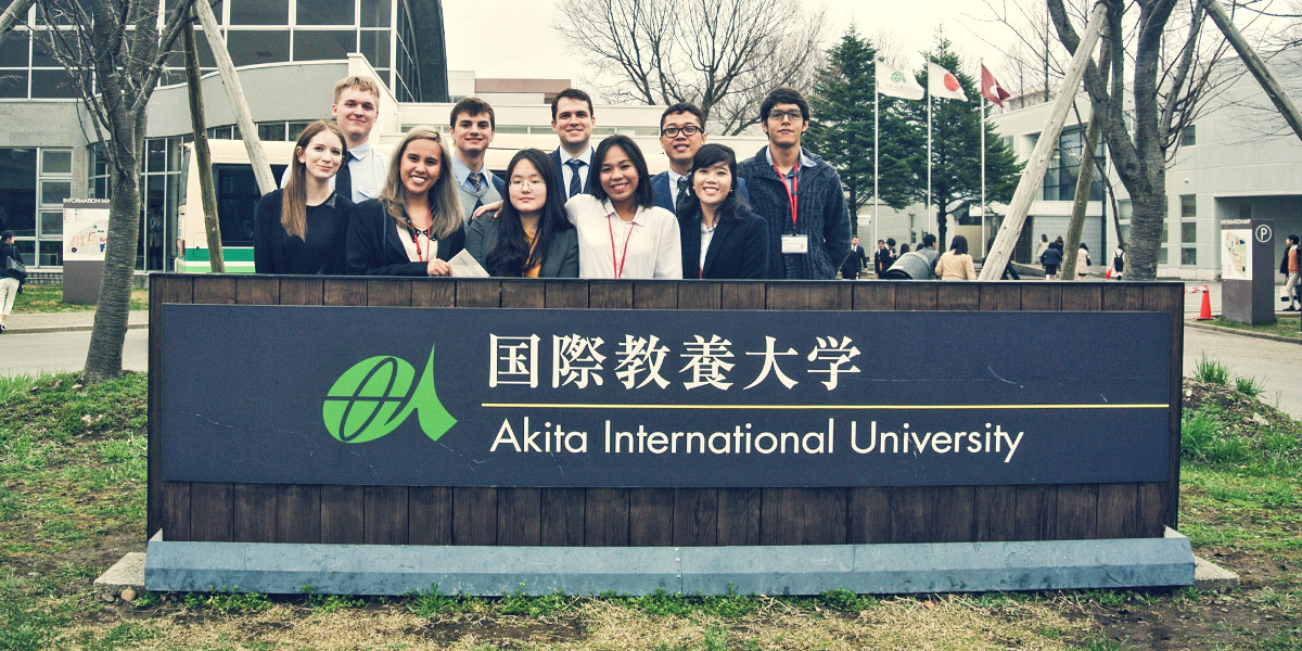 Akita International University exchange student group