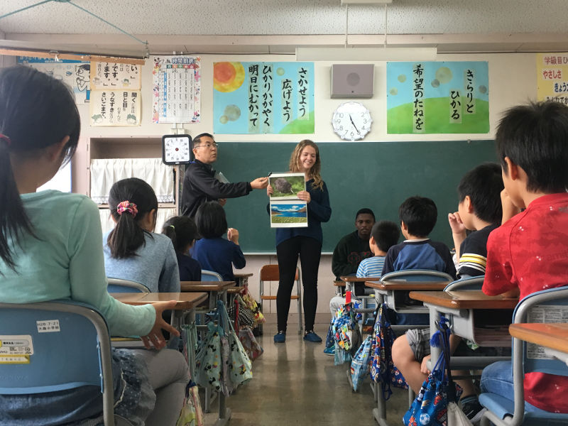 Isobel Dowell Victoria University of Wellington in Japanese elementary school classroom Akita International University