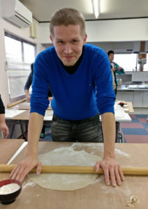 Tapio Hirsivaara University of Lapland rolling dough for soba noodles Akita International University Odate city