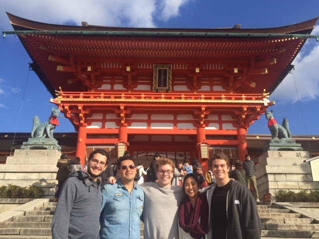 Baxter Banwell from St. Cloud State University at Akita International University traveling in Kyoto