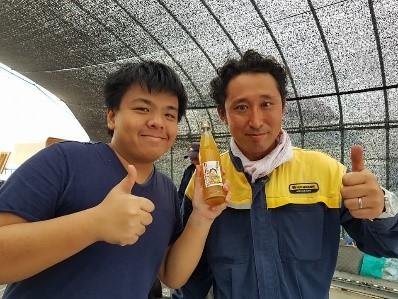 Yokote farm stay apple orchard apple juice