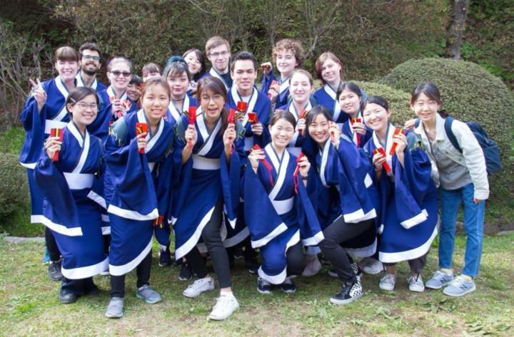 Kwanchanok Chaiyapruek Kasetsart University Akita International University Yatose team photo