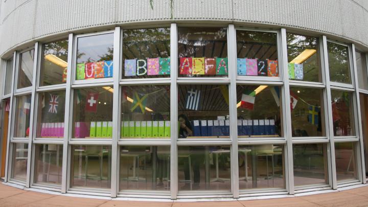 Akita International University Study Abroad Fair Venue entrance