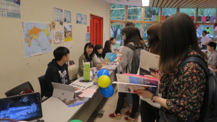 Akita International University Study Abroad Fair Oceania Partner Universities Booth