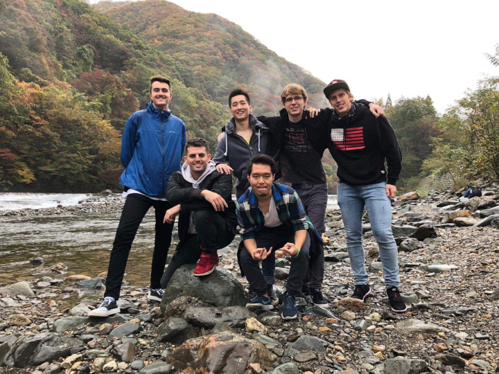 Dakigaeri Gorge hike Akita International University Kanto Team Nicholas Neville Oregon State University