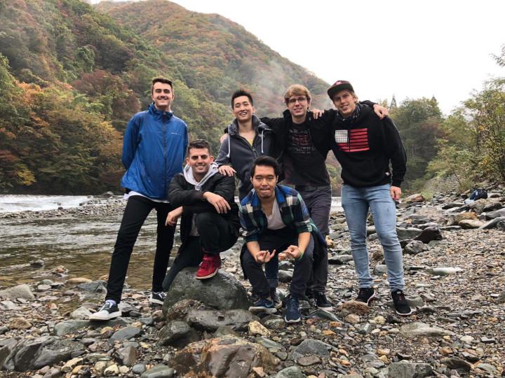 Dakigaeri Gorge hike Akita International University Kanto Team Nicholas Neville Oregon State University