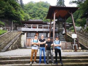 Akita International University exchange students Yamadera