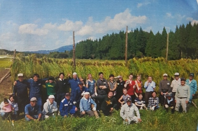 rice harvest group photo