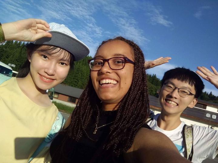 Akita International University exchange students at Kakunodate