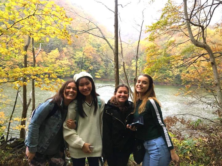 Akita International University exchange students at Shirakami Sanchi