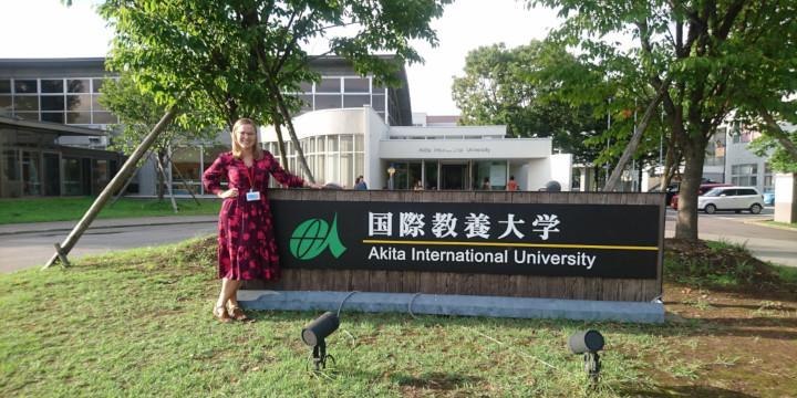 Akita International University bus rotary Clara Karlsson Schedvin Linkoping University