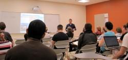 本学教員によるBall State University(米国)での特別講義