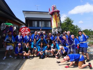 Festival kick-off, the students, Arawa residents and Saitou members