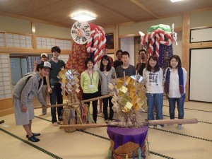 Bonten crafting with the Young Persons' Association