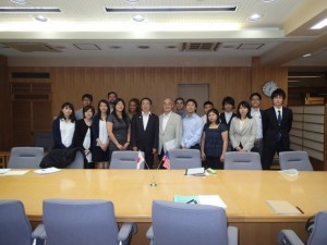 Courtesy visit to Deputy Governor Masamichi Hashiguchi of Akita Prefecture at the prefectural government office