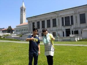UC Berkeleyのキャンパスにて
