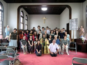 At the Yokote Catholic Church