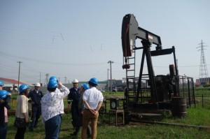 Drilling site in Yabase