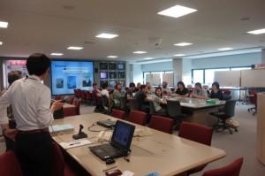災害対策本部室で講義