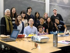 At UC-Berkeley (Associate Professor Akiba in the middle)