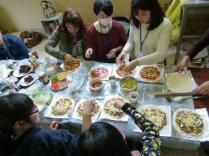 Cooking Makomo-pizza
