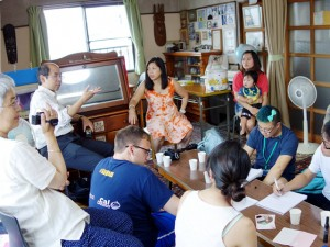 Interview with local Filipinas at Mr. and Mrs. Watanabe's residence