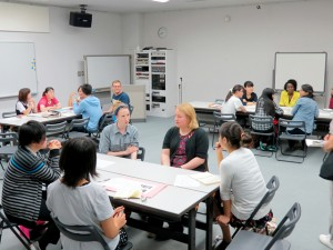 Conversation with foreign residents at Ogachi Japanese Language School