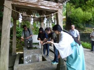 新波神社の視察