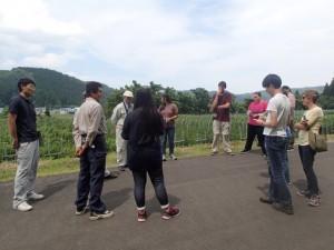 天神集落のリンドウ栽培の調査