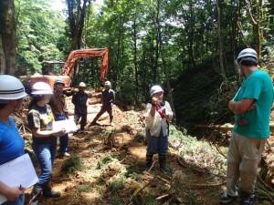 国有林伐採現場の視察