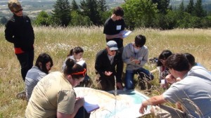 Studying observation method at Fitton Green Natural Area (June 15, 2015)