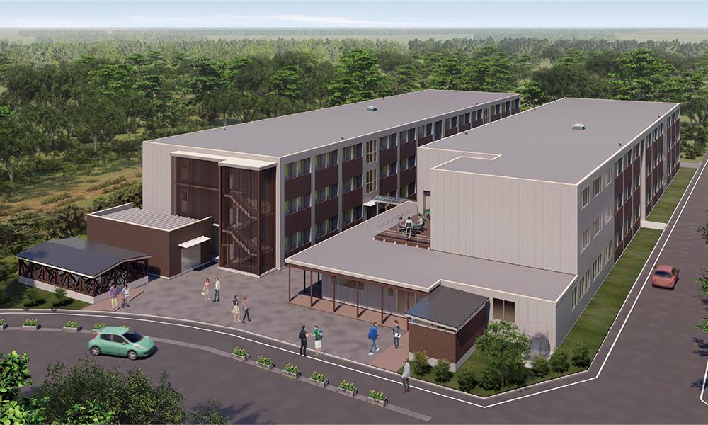 新学生宿舎の完成イメージ画像