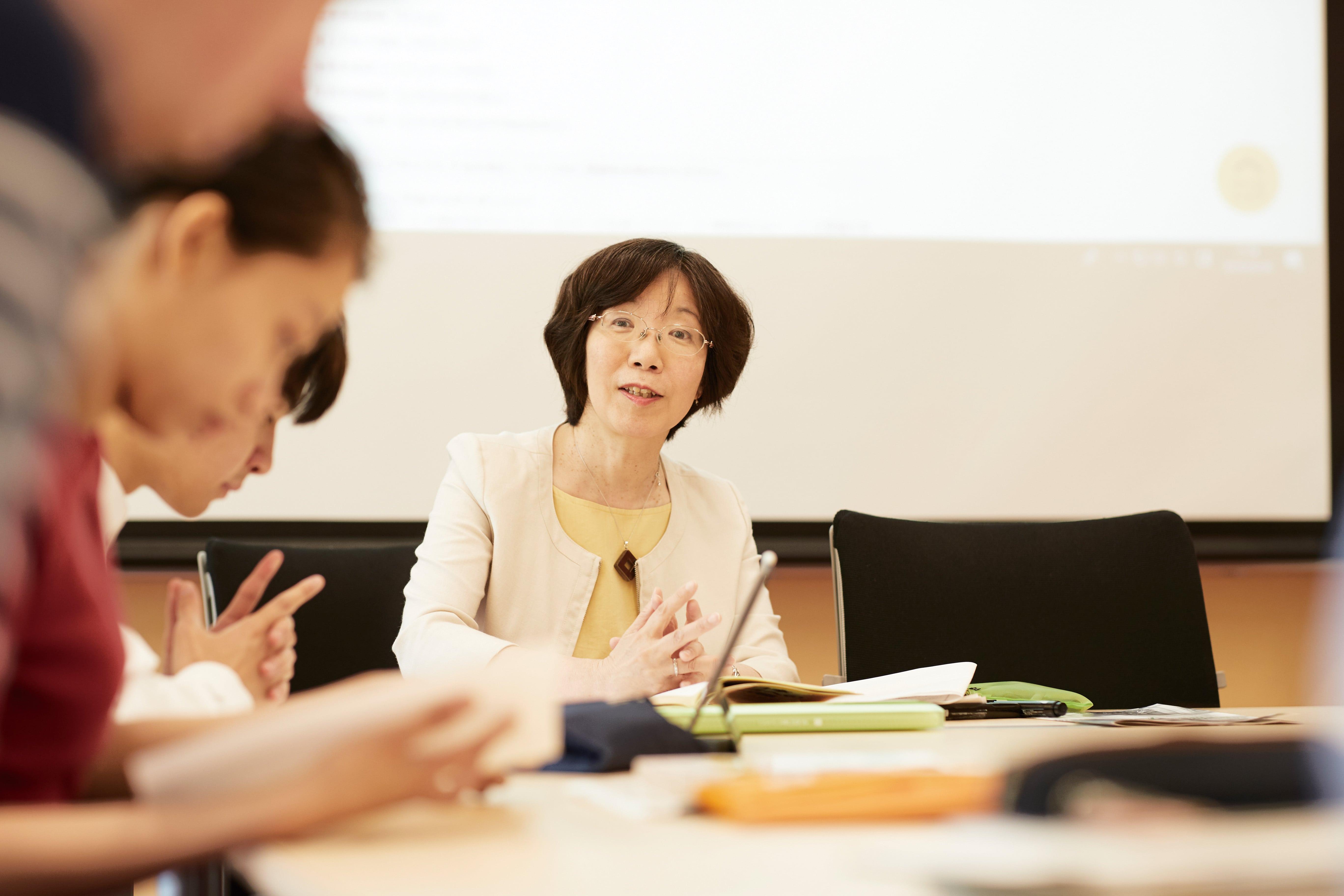 日本語教育実践領域授業の写真