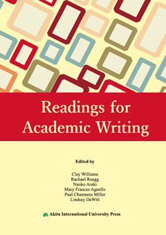 Readings for Academic Writingの表紙