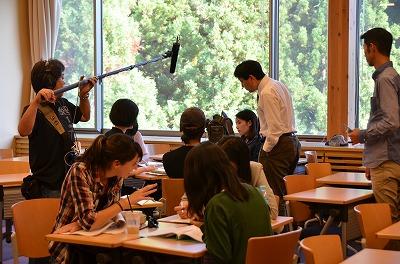 豊田准教授の授業撮影
