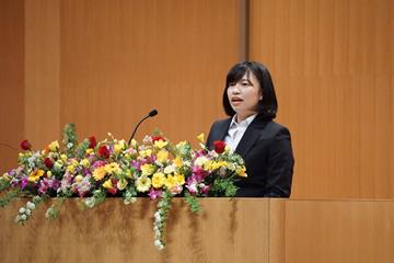 国際教養学部 新入生代表 熊谷 星さん