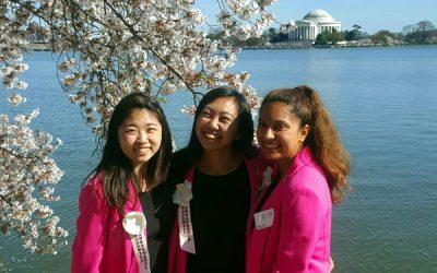 全米桜祭りで親善大使に任命された中原萌さん