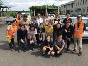ボランティア活動に参加した本学学生-教職員と秋田市ボランティアセンタースタッフ