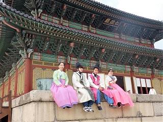 韓服体験の写真