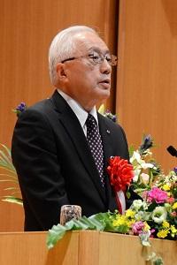祝辞を述べる堀井 啓一 秋田県副知事の写真
