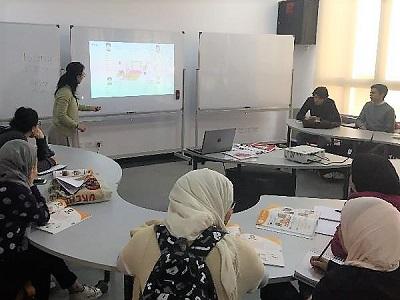 エジプト日本科学技術大学での日本語教室の様子