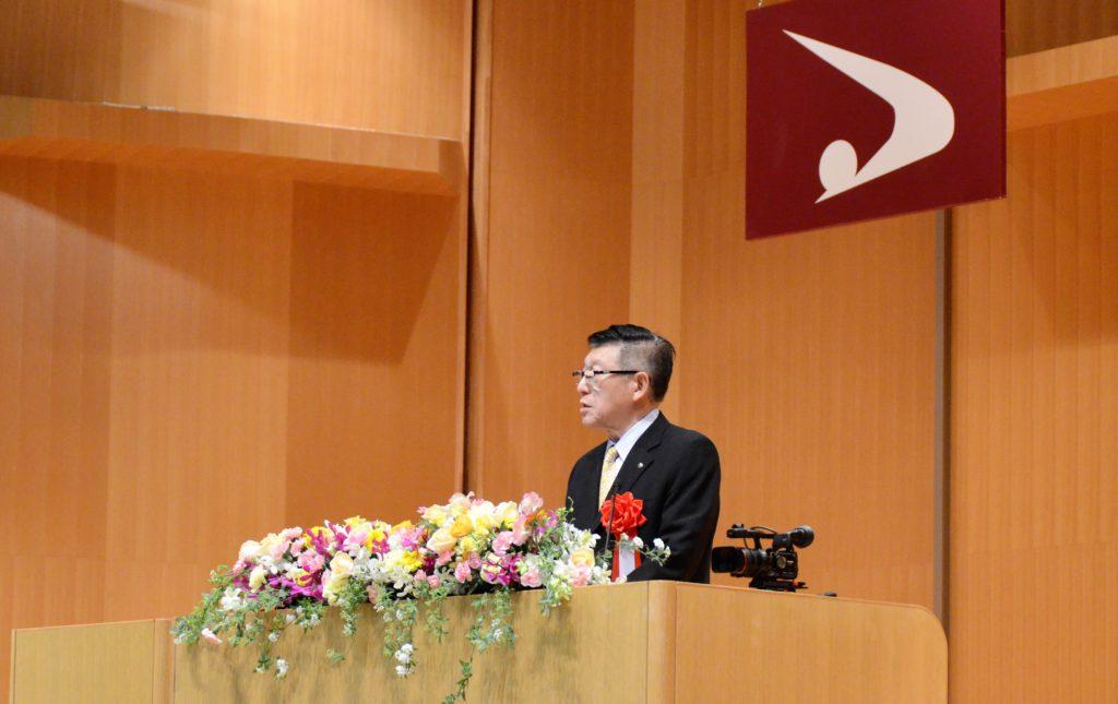 佐竹知事による祝辞の写真