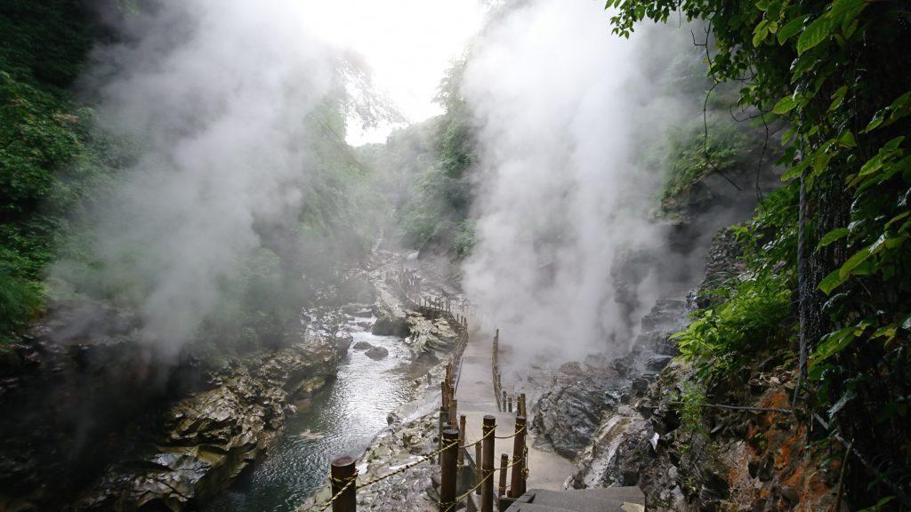 小安峡大噴湯の写真