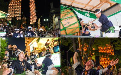 秋田竿燈まつり2019でのAIU竿燈会の様子